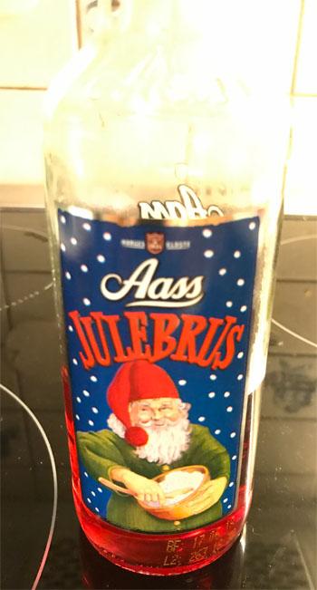 Aass Julebrus 033 L Glassflaske